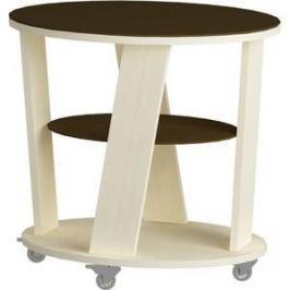 Журнальный стол MetalDesign Смарт MD 736.03.02 корпус-молочный дуб/ стекло-венге