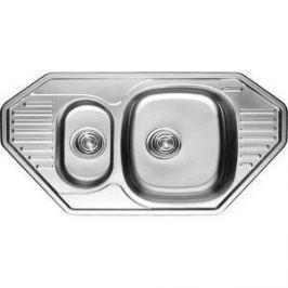 Кухонная мойка Kaiser Classic угловая врезная 84,9х47,2х18 0.8 мм (KSS-8547)