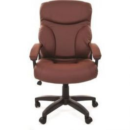 Офисное кресло Chairman 435 LT экопремиум коричневая