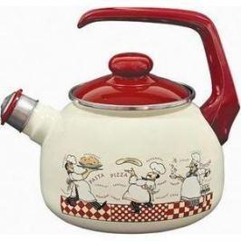 Чайник эмалированный со свистком 2.5 л Metrot Таково Повара (120074)