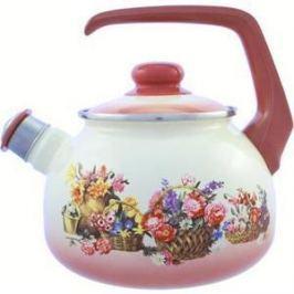 Чайник эмалированный со свистком 2.5 л Metrot Таково Краски лета (117682)