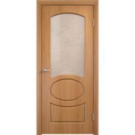 Дверь VERDA Неаполь остекленная 1900х600 ПВХ Миланский орех