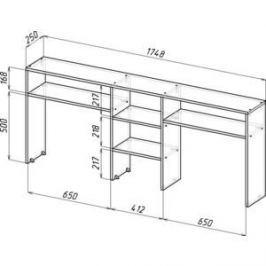 Надставка для стола Мастер Тандем-2 (дуб молочный) МСТ-СДТ-02-ДМ-16