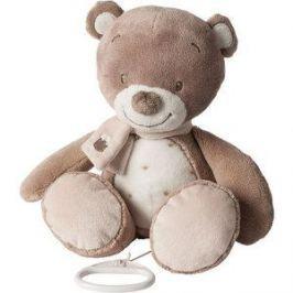 Игрушка мягкая Nattou Musical Soft toy (Наттоу Мьюзикал Софт Той) Max, Noa & Tom Мишка музыкальная 777056