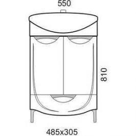 Тумба под раковину Aqualife Design Иматра с/ящ (1-197-000-AF55)