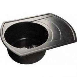 Мойка кухонная GranFest гранит 650x500 чаша крыло (Gf-R650L черная)
