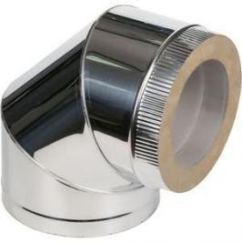Отвод Феникс сэндвич 115/200 мм угол 90 градусов сталь AISI 430 (0.5 нерж.мат./0.5 нерж.зерк.)(00990)