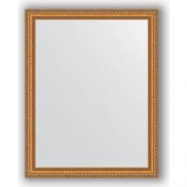 Зеркало в багетной раме поворотное Evoform Definite 75x95 см, золотые бусы на бронзе 60 мм (BY 3266)
