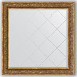 Зеркало с гравировкой Evoform Exclusive-G 109x109 см, в багетной раме - вензель бронзовый 101 мм (BY 4464)