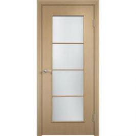 Дверь VERDA Тип С-8(о) остекленная 2000х800 МДФ финиш-пленка Дуб белёный