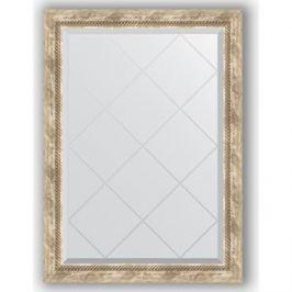 Зеркало с гравировкой поворотное Evoform Exclusive-G 73x101 см, в багетной раме - прованс с плетением 70 мм (BY 4177)