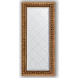 Зеркало с гравировкой поворотное Evoform Exclusive-G 57x127 см, в багетной раме - бронзовый акведук 93 мм (BY 4068)