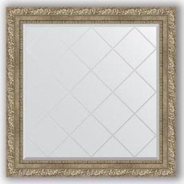 Зеркало с гравировкой Evoform Exclusive-G 85x85 см, в багетной раме - виньетка античное серебро 85 мм (BY 4315)