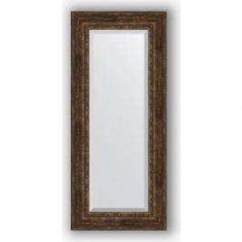 Зеркало с фацетом в багетной раме поворотное Evoform Exclusive 62x142 см, состаренное дерево с орнаментом 120 мм (BY 3534)