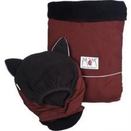 МаМ Двухстронняя водоотталкивающая накидка Deluxe Cover для слингоношения с шапочкой для малыша, Бордовый/черный (12269941)
