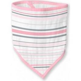 Бандана-нагрудник SwaddleDesigns муслиновая Pink Stripes (SDM-540P)