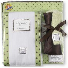 Подарочный набор SwaddleDesigns для новорожденного Gift Set LM w/ Brown Dot (SD-014LM-G)