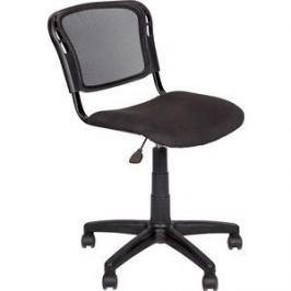 Кресло Алвест AV 221 PL ткань 418 черная/сетка 470 черная