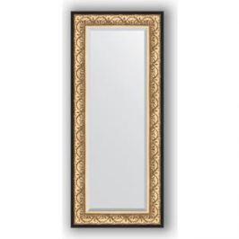 Зеркало с фацетом в багетной раме поворотное Evoform Exclusive 60x140 см, барокко золото 106 мм (BY 1261)