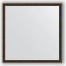 Зеркало в багетной раме Evoform Definite 58x58 см, витой махагон 28 мм (BY 0607)