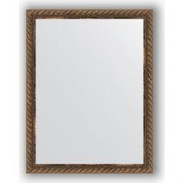 Зеркало в багетной раме Evoform Definite 34x44 см, витая бронза 26 мм (BY 1339)