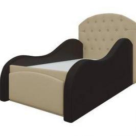 Детская кровать АртМебель Майя эко-кожа бежево-коричневый
