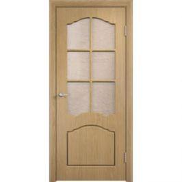 Дверь VERDA Лидия остекленная 2000х600 ПВХ Дуб (стекло Глория)