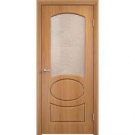 Дверь VERDA Неаполь остекленная 1900х550 ПВХ Миланский орех