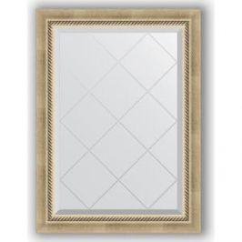 Зеркало с гравировкой поворотное Evoform Exclusive-G 63x86 см, в багетной раме - состаренное серебро с плетением 70 мм (BY 4089)