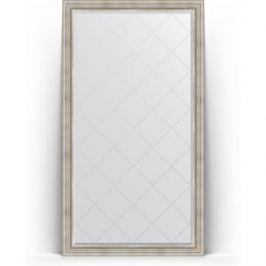 Зеркало напольное с гравировкой поворотное Evoform Exclusive-G Floor 111x201 см, в багетной раме - римское серебро 88 мм (BY 6358)