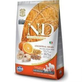 Сухой корм Farmina N&D Adult Dog Medium LG Codfish & Orange низкозерновой с треской и апельсином для собак всех пород 12кг (21526)