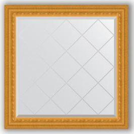 Зеркало с гравировкой Evoform Exclusive-G 85x85 см, в багетной раме - сусальное золото 80 мм (BY 4310)