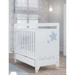 Кровать Micuna Istar 120*60 white/sky blue