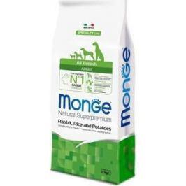 Сухой корм Monge Speciality Line Adult Dog All Breed Rabbit, Rice and Potatoes с кроликом, рисом и картофелем для собак всех пород 12кг