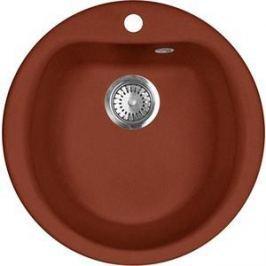 Кухонная мойка AquaGranitEx M-07 495х495 красный марс (M-07 (334))