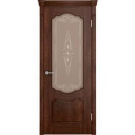 Дверь VERDA Престиж остекленная 2000х700 шпон Кофе