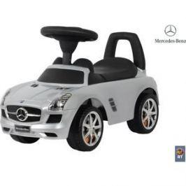 RT 332Р Каталка-автомобиль Mercedes-Benz с музыкой - серебро металлик