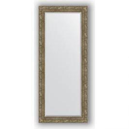 Зеркало с фацетом в багетной раме поворотное Evoform Exclusive 65x155 см, виньетка античная латунь 85 мм (BY 3567)