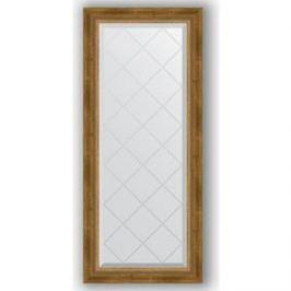 Зеркало с гравировкой поворотное Evoform Exclusive-G 53x123 см, в багетной раме - состаренная бронза с плетением 70 мм (BY 4047)