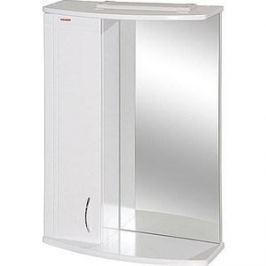 Зеркальный шкаф Меркана квадро 8 55 см шкаф слева свет белое (7331)