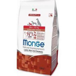 Сухой корм Monge Speciality Line Puppy and Junior Mini Lamb, Rice and Potatoes с ягненком, рисом и картофелем для щенков мелких пород 2,5кг