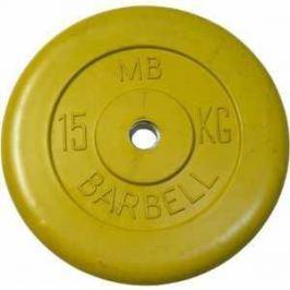 Диск обрезиненный MB Barbell 31 мм 15 кг желтый