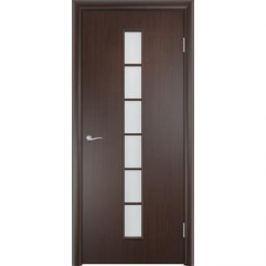 Дверь VERDA Тип С-12(о) остекленная 2000х300 МДФ финиш-пленка Венге