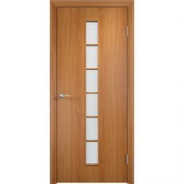Дверь VERDA Тип С-12(о) остекленная 2000х450 МДФ финиш-пленка Миланский орех