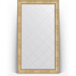 Зеркало напольное с гравировкой поворотное Evoform Exclusive-G Floor 117x207 см, в багетной раме - состаренное серебро с орнаментом 120 мм (BY 6378)