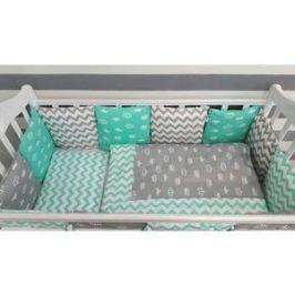 Комплект для круглой кроватки By Twinz Короны Мятные