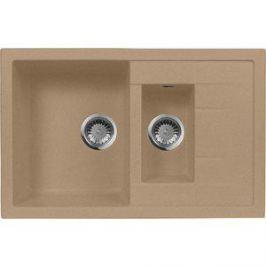 Мойка кухонная AquaGranitEx M-21K 780х500 песочный (M-21K 302)
