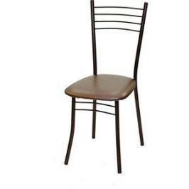 Стул Союз мебель Нефертити каркас антик медь экокожа коричневый перламутр 2 шт
