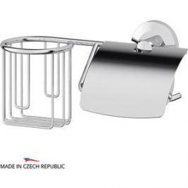 Держатель освежителя и туалетной бумаги с крышкой FBS Standard хром (STA 054)