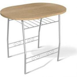 Стол Sheffilton SHT-T10 дуб беленый/серебро